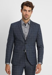 Selected Homme - SLHONE-MYLOAIR CHECK SUIT - Garnitur - dark blue - 2