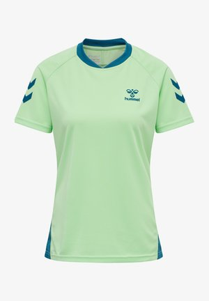 ACTION  - Print T-shirt - green ash/blue coral