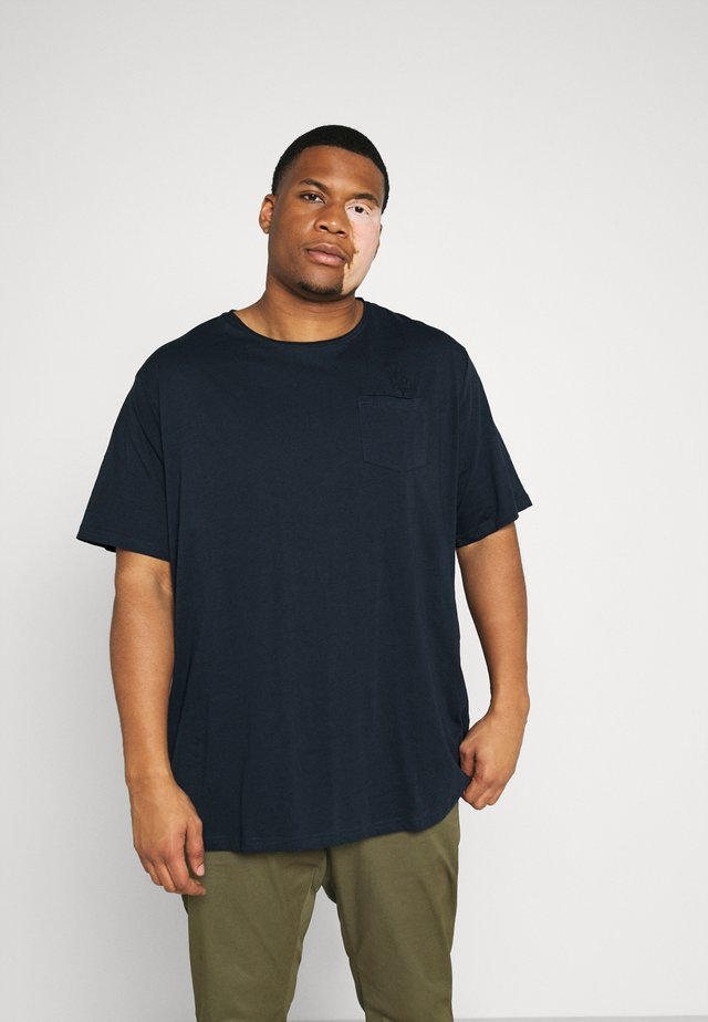 RAW EDGE TEE SPEZIAL - Basic T-shirt - navy