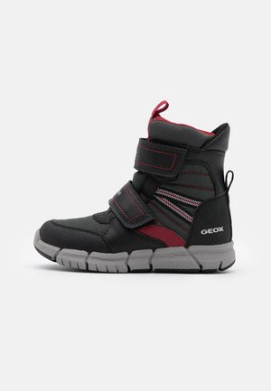 FLEXYPER BOY  - Winter boots - black/dark red