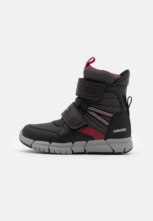 FLEXYPER BOY  - Winter boots - black/dark red