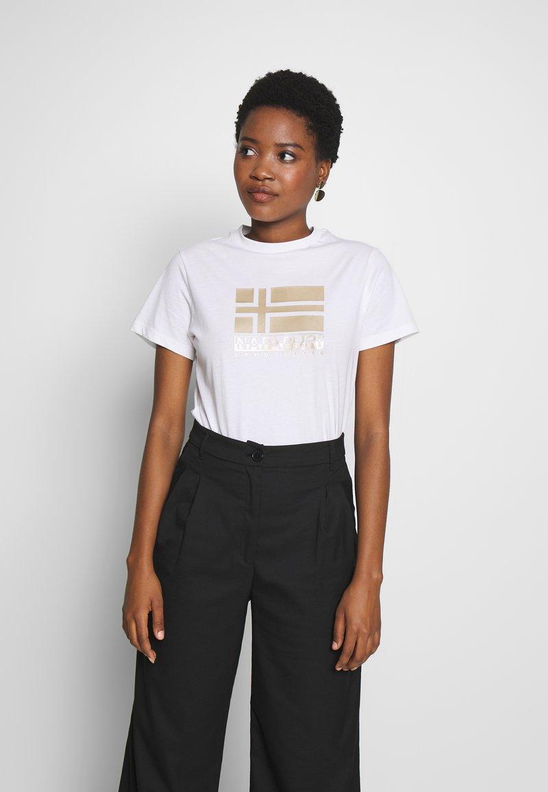 Napapijri - SHYAMOLI - Print T-shirt - bright white