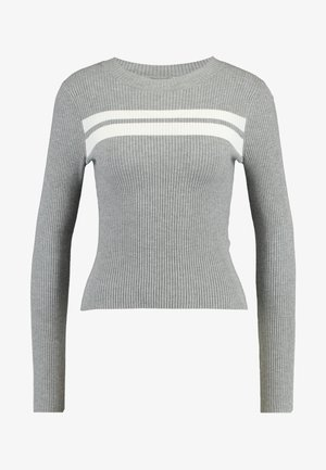 Svetr - grey/white