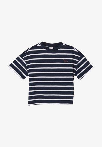 Print T-shirt - navy stripes