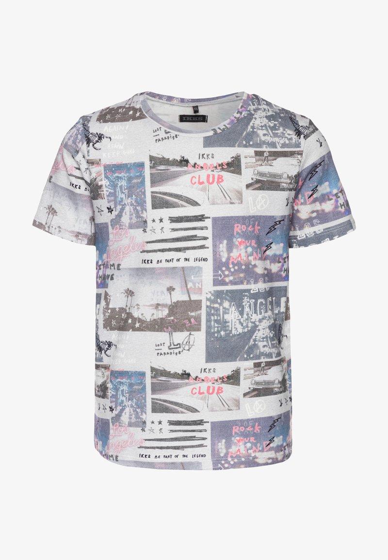 IKKS - T-shirt imprimé - gris chiné