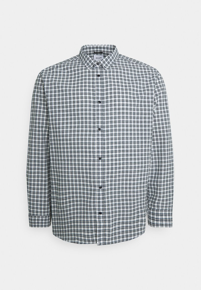 Only & Sons - ONSTONY CHECK PLUS SIZE - Skjorta - cloud dancer