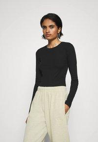 Even&Odd - 3 PACK - Long sleeved top - black/white/light grey - 3
