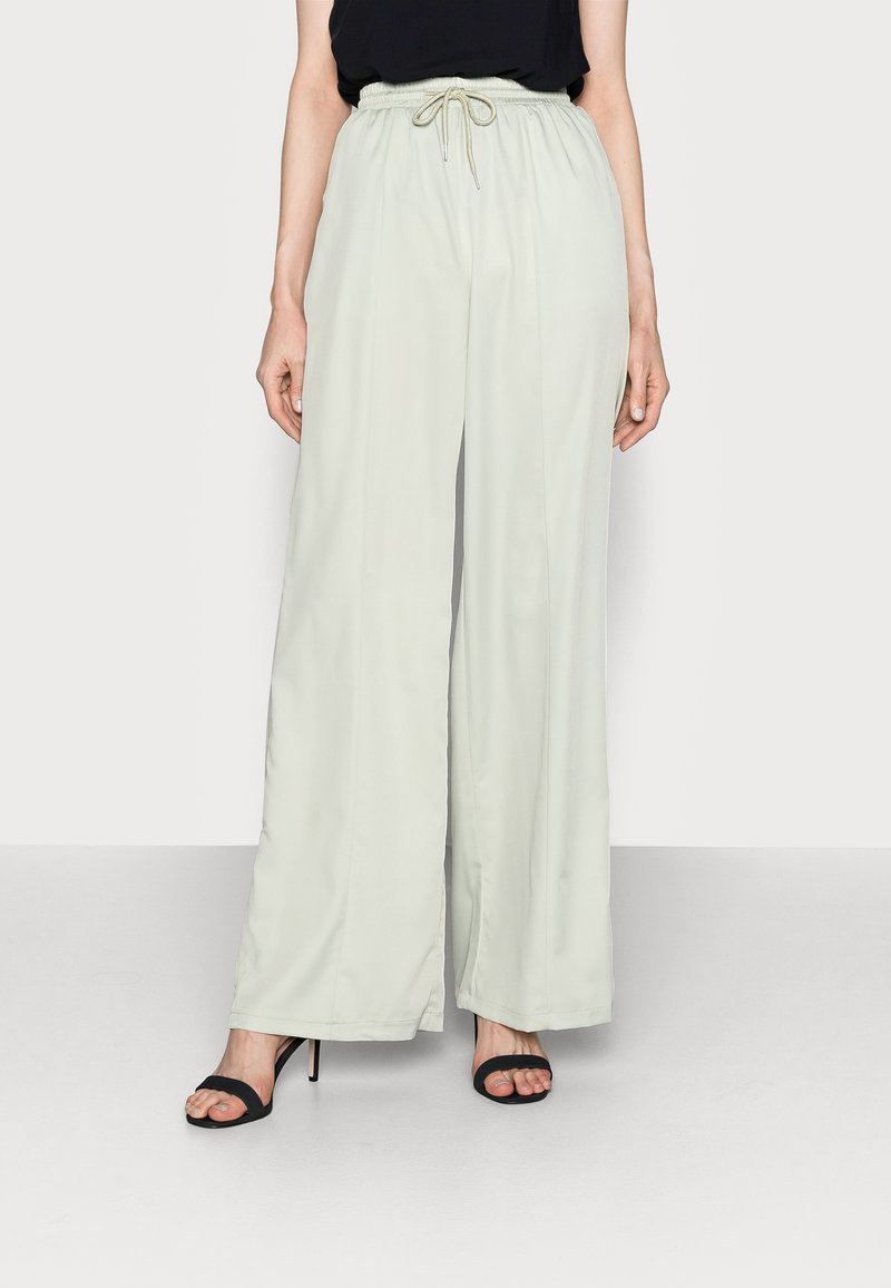 Missguided Tall - WIDE LEG TROUSER - Trousers - sage