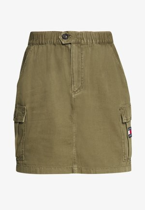 CARGO SKIRT  - Mini skirt - olive tree