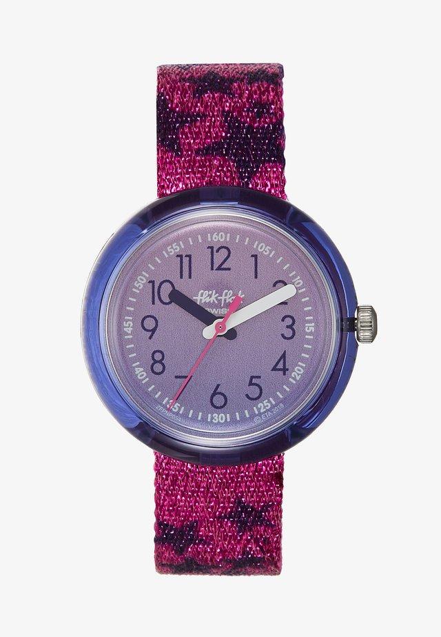 GLITTER STARS - Klocka - pink