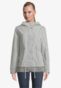 Amber & June - MIT KAPUZE - Waterproof jacket - quarry - 0