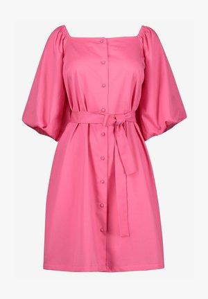 PUFF SLEEVE SQUARE NECK - Shirt dress - pink