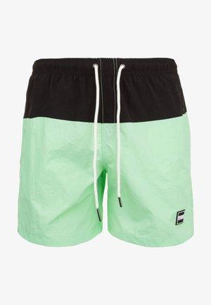 Pantaloncini sportivi - black/neomint