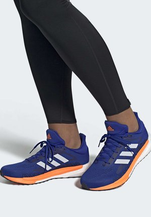 SOLAR GLIDE BOOST SHOES - Zapatillas de running neutras - blue/white/orange