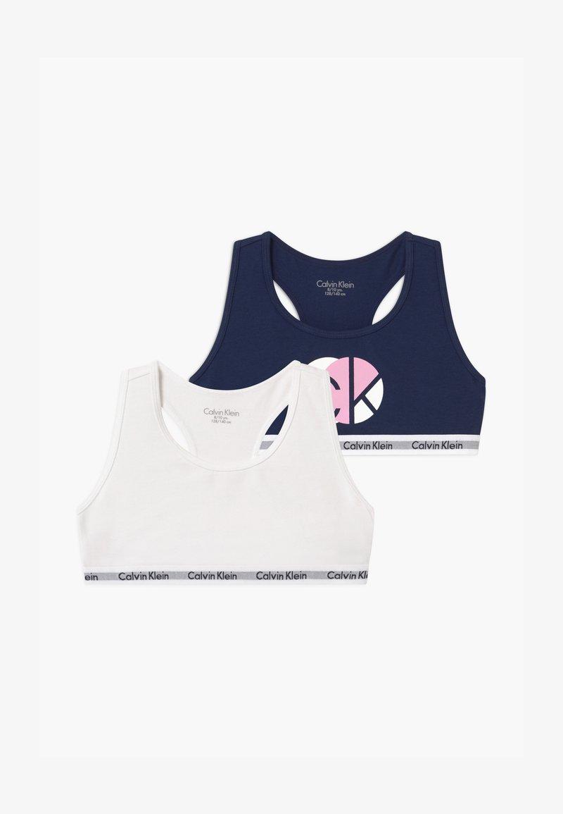 Calvin Klein Underwear - 2 PACk - Bustier - dark blue/white