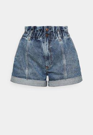 Denim shorts - stone-blue denim