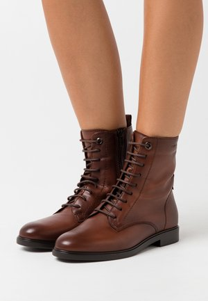 POLO  - Lace-up ankle boots - cognac