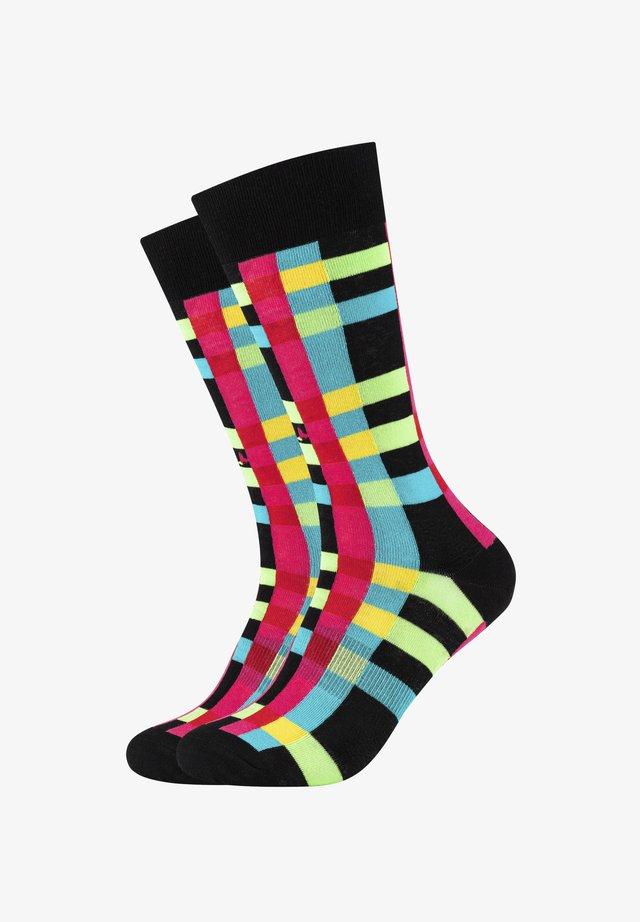 COLOURED STRIPES - Socks - black/bright