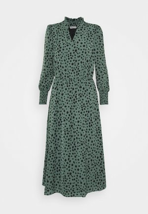 ONLJENNA V-NECK MIDI DRESS - Denní šaty - chinois green/black