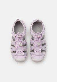 Keen - MOXIE UNISEX - Walking sandals - lavender fog/metallic - 3