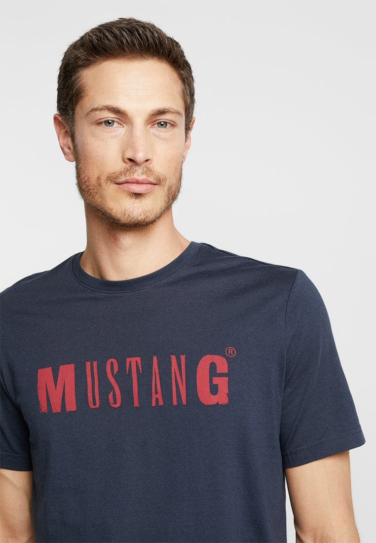 Mustang Logo Tee - T-shirt Print Blue Nights