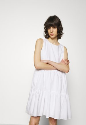 TIERED MINI - Day dress - white