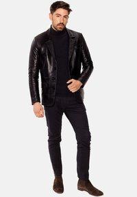 LEATHER HYPE - HYPE BLAZER - Leather jacket - black - 1