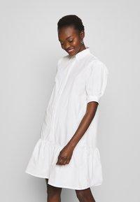 Bruuns Bazaar - FREYIE ALISE SHIRTDRESS - Shirt dress - white - 0
