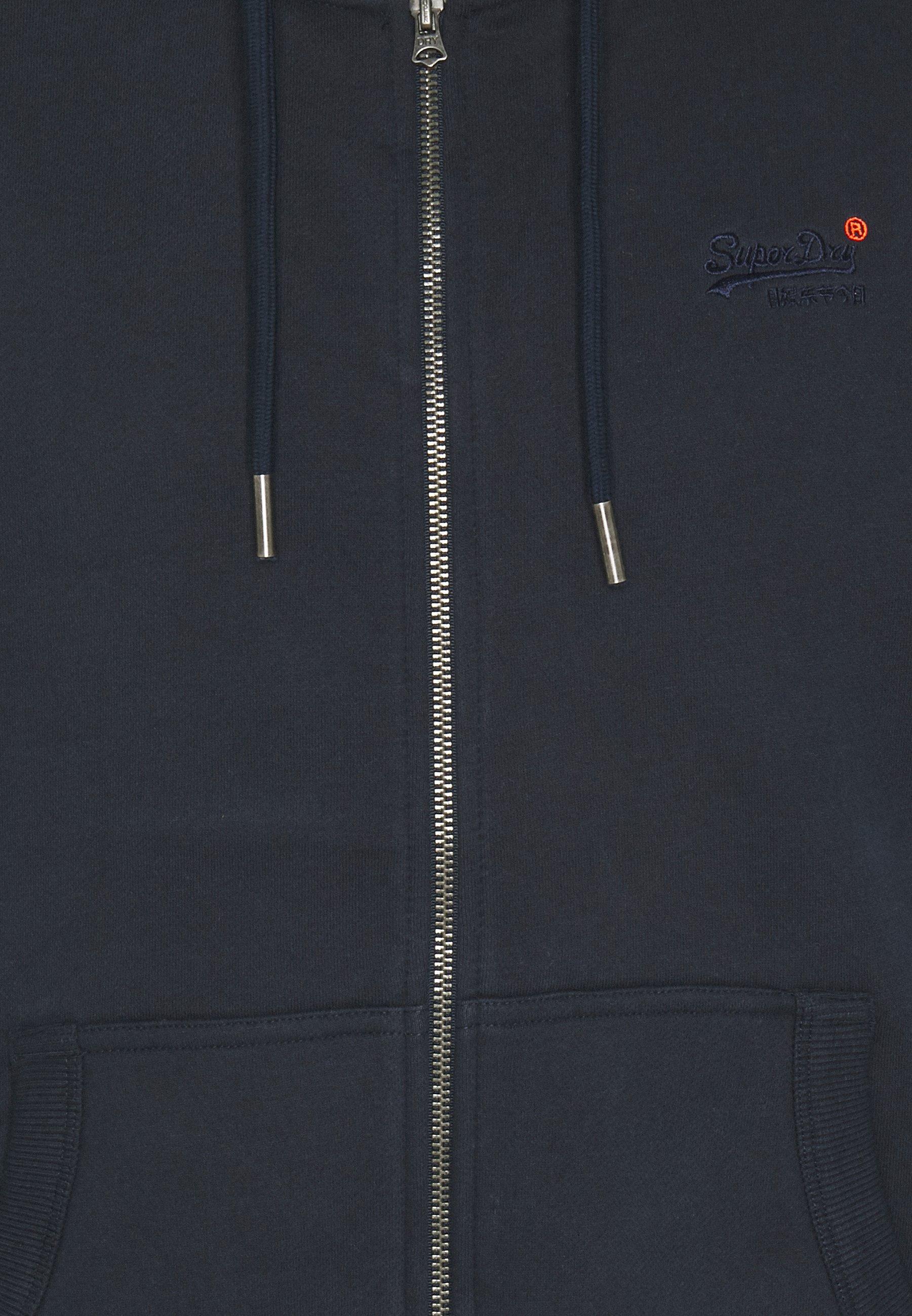 Superdry CLASSIC ZIPHOOD - Sweatjacke - rich navy/dunkelblau - Herrenwinterkleidung PV7IU