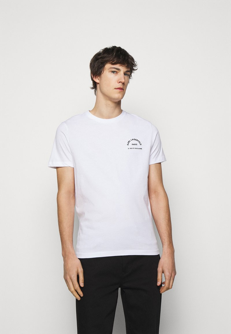 KARL LAGERFELD - CREWNECK - T-shirt con stampa - white