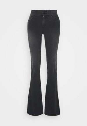 NEWLUZ - Flared Jeans - dark grey