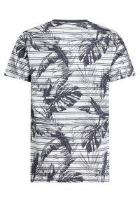 WE Fashion - MET STREEP- EN BLADERENDESSIN - Print T-shirt - grey - 4