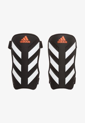 EVERLITE - Shin pads - black / white / solar red