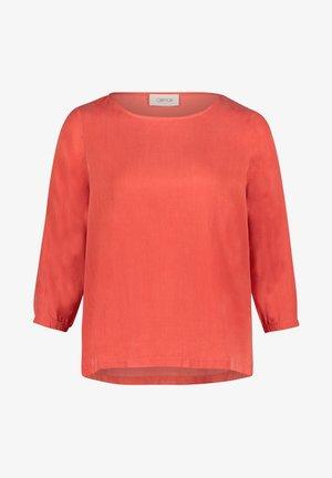 BLUSENSHIRT UNIFARBEN - Blouse - Orange
