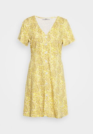 ONLALMA LIFE BUTTON DRESS - Day dress - cloud dancer/pineapples