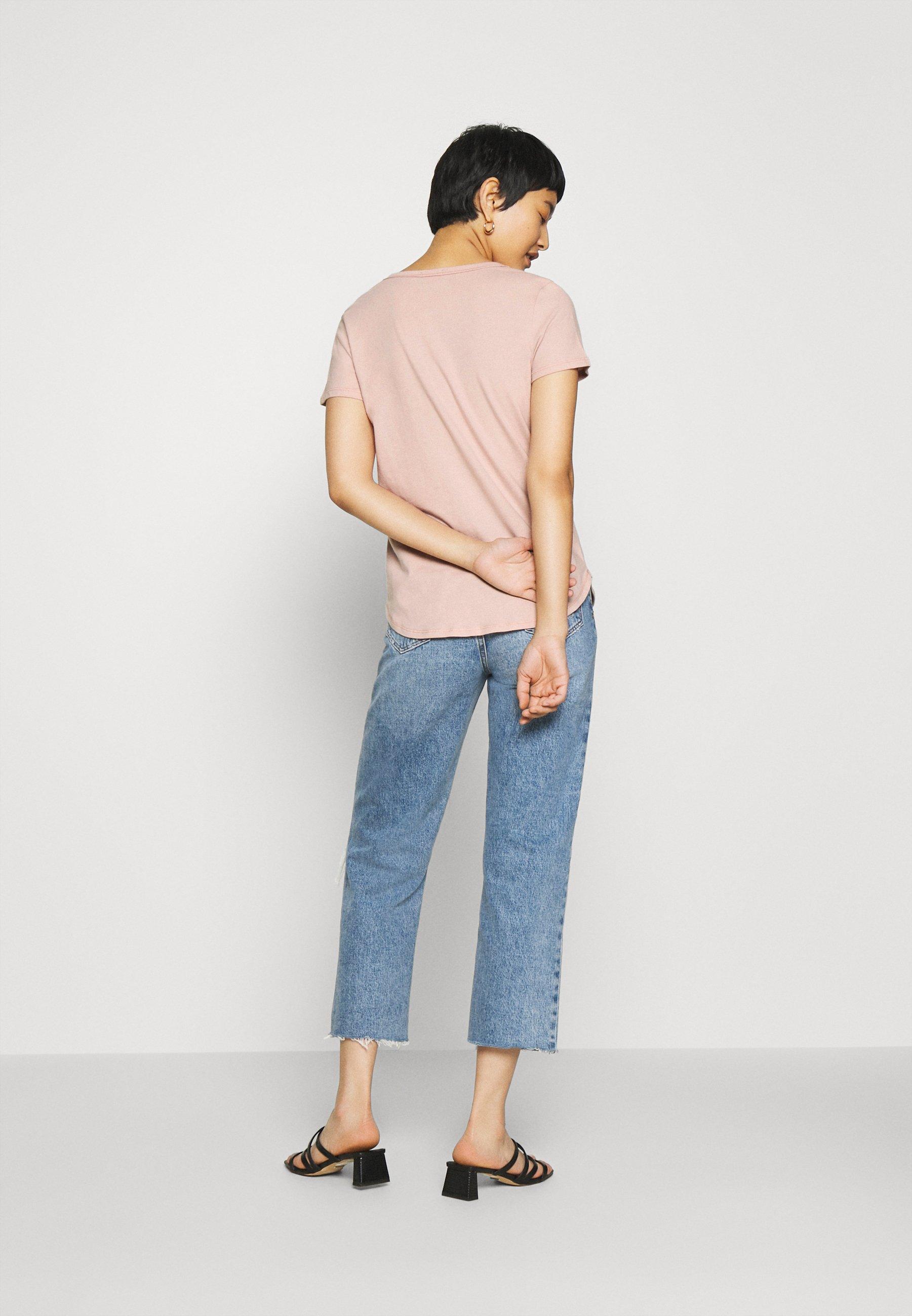 Abercrombie & Fitch 5 PACK - T-shirt basic - white/black/pink/olive/navy - Abbigliamento da donna Veramente