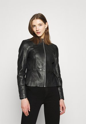 VMZIZZY JACKET - Leather jacket - black