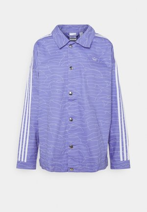 JACKET - Denim jacket - light purple/white/silver met.