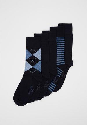 5 PACK - Ponožky - nachtblau