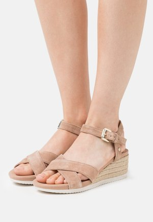 ISCHIA CORDA - Wedge sandals - dark skin