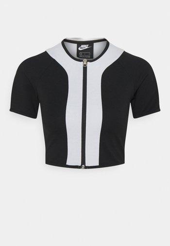 STREET - T-shirt imprimé - black/pure platinum/white