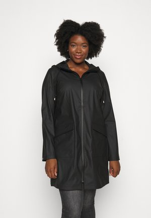 JRLAKSUS LONG RAINCOAT - Parka - black