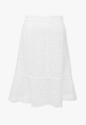 MINI MOD SKIRT - A-line skirt - white