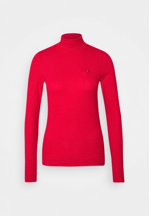 SKINNY ROLL - Long sleeved top - primary red