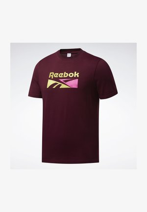 CLASSICS SPLIT VECTOR T-SHIRT - Camiseta estampada - burgundy