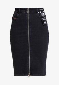 Diesel - DE-PENCIL-ZIP GONNA - Kokerrok - black - 3