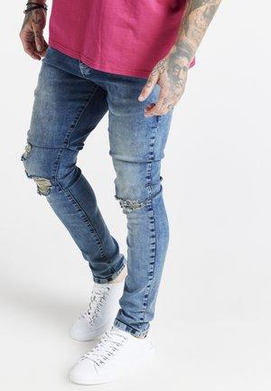 SLIM FIT DISTRESSED - Jeans Skinny Fit - washed light blue
