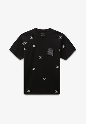 MN NEW VARSITY SS - Print T-shirt - black