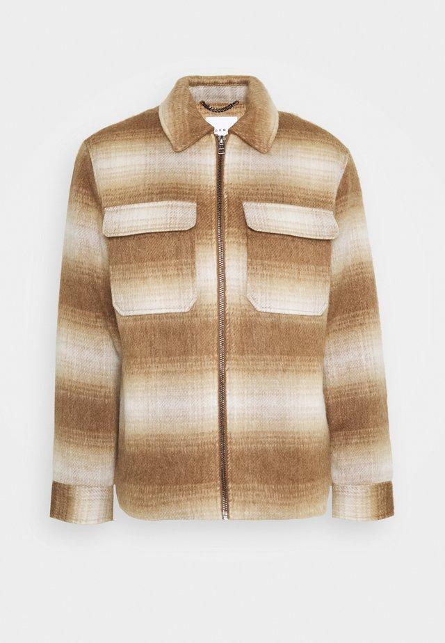 FADE CHECK - Light jacket - brown