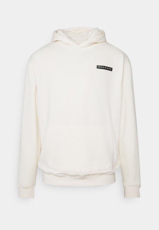 AFTERMATH BADGE HOODIE UNISEX - Sweatshirt - off white